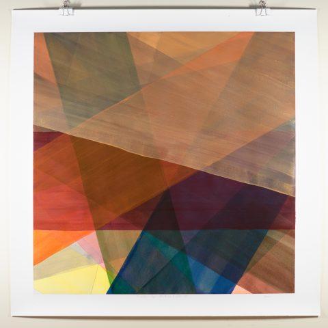 16 rendur — akrýl á pappír 80 x 80 cm, I.2019
